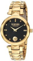 Versus By Versace Women's 'COVENT GARDEN' Quartz Stainless Steel Casual Watch, Color:Gold-Toned (Model: SCD120016)