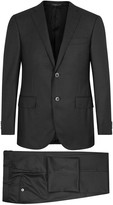 Corneliani Charcoal Super 160's Wool Suit