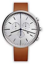 Uniform Wares M42 Swiss Quartz Stainless Steel and Brown Leather Watch