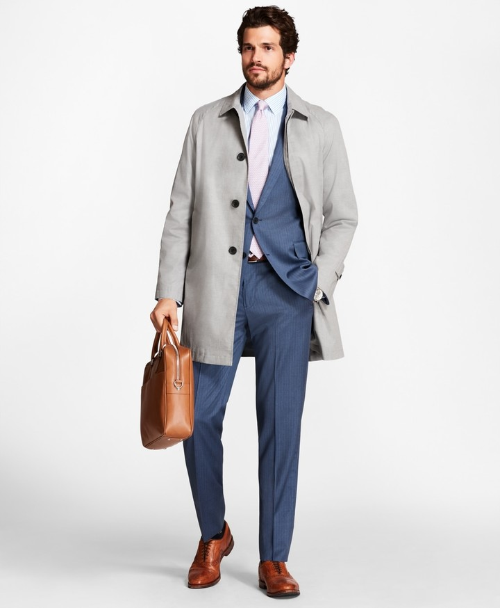Brooks Brothers Sharkskin Trench Coat