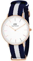 Daniel Wellington Classic Glasgow 0503DW Women's Rose Gold Ion-Plated Stainless Steel Watch