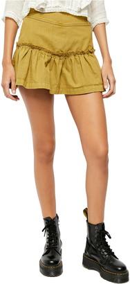 Free People Positano Lace-Up Mini Skirt