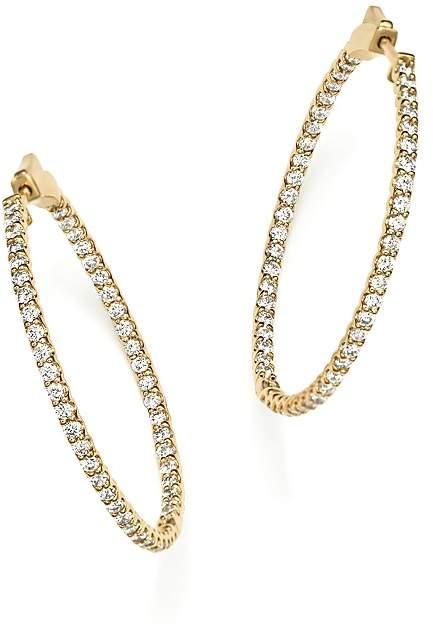 Bloomingdale's Diamond Inside Out Hoop Earrings in 14K Yellow Gold, 2.0 ct. t.w.