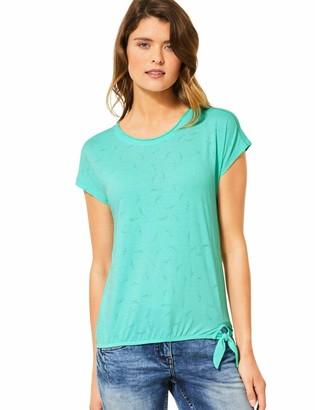 Cecil Women's 314983 TOS Solid Leaf Burn Out Shape T-Shirt