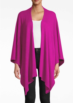 Nicole Miller Solid Cashmere Poncho Sweater