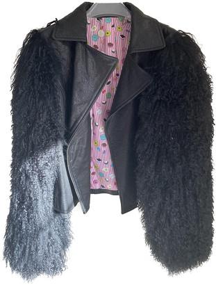 CHARLOTTE SIMONE Black Mongolian Lamb Jackets