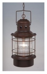 Vaxcel Hyannis Coastal Clear Glass Outdoor Pendant Light