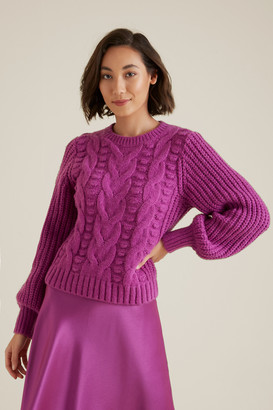 Seed Heritage Pretty Cable Sweater