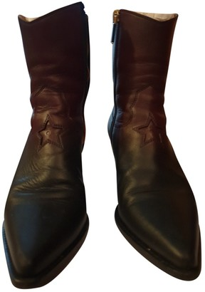 Christian Dior LA Burgundy Leather Ankle boots