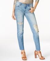 MICHAEL Michael Kors Petite Cotton Studded Skinny Jeans