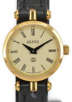 Gucci Gold Plated / Leather with Ivory Dial 21.5 mm Womens Watch