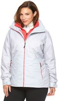 Columbia Plus Size Crystal Slope Hooded 3-in-1 Systems Jacket