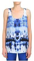 Michael Kors Women's Blue Silk Tank Top.