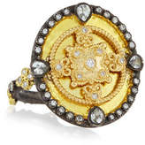 Armenta OId World Heraldry Oval Shield Ring