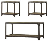 Inspire Q Bay View 3 Piece Occasional Set Sea Oak