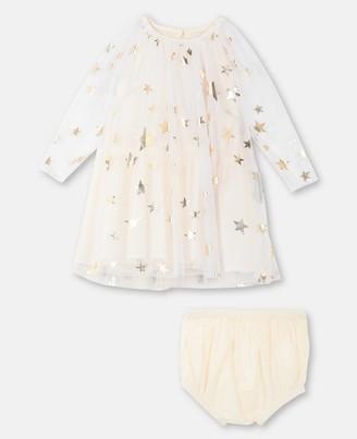 Stella Mccartney Kids Stella McCartney gold stars tulle dress
