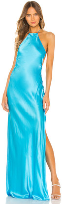 Michael Lo Sordo Halter Maxi Dress