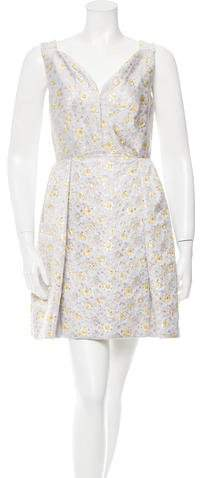DELPOZO Brocade Mini Dress