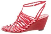 Opening Ceremony Leather Cage Wedges