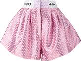 Natasha Zinko logo waistband shorts - women - Cotton/Polyester/Acetate/Polyimide - 36