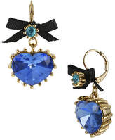 Betsey Johnson Crystal Heart Drop Earring
