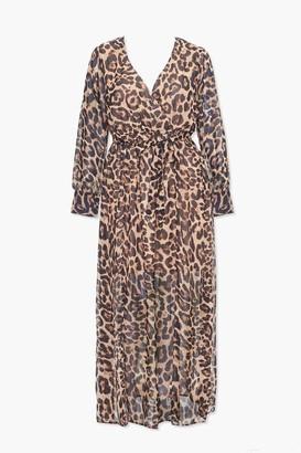 Forever 21 Plus Size Leopard Print Maxi Dress