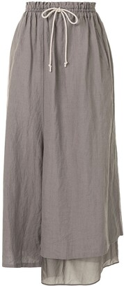 Y's Cropped Wide-Leg Trousers