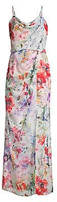 Parker Black Women's Delphine Floral Chiffon Maxi Dress