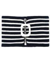 J.W.Anderson Striped Mock Turtleneck Collar - Blue