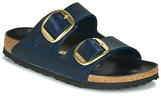 Birkenstock ARIZONA BIG BUCKLE LEATHER women's Mules / Casual Shoes in Blue
