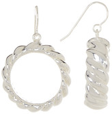 Simon Sebbag Sterling Silver Hoop Drop Earrings