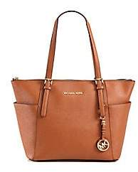 MICHAEL Michael Kors Women's Jet Set Textured Leather Tote