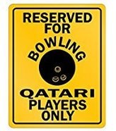 SignPirates Reserved Bowling Qatar only - Countries - Parking Sign [ Decorative Novelty Sign Wall Plaque ]