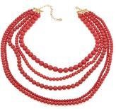 """RJ Graziano Colorvision"""" Colored Bead Multi-Row 19-1/2"""" Necklace"""