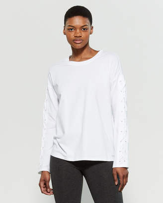 DKNY Sport Lace-Up Long Sleeve Tee