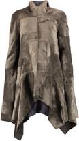 Rick Owens Draped velvet coat