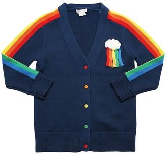 Stella McCartney Kids Rainbow Cotton & Wool Knit Cardigan