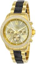 Invicta Black & Goldtone Angel Chronograph Watch