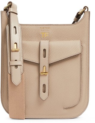 Tom Ford Small Leather T Twist Cross-Body Bag