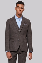 Moss Bros Brown Donegal Suit