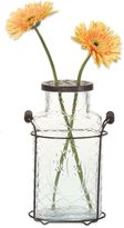 Bed Bath & Beyond 10.5-Inch Metal and Glass Vase
