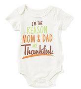 """Baby Starters Baby Boys 3-12 Months Thanksgiving """"I m The Reason"""" Bodysuit"""