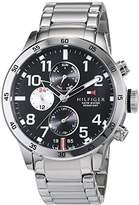 Tommy Hilfiger Mens Quartz Watch, multi dial Display and Stainless Steel Strap 1791141