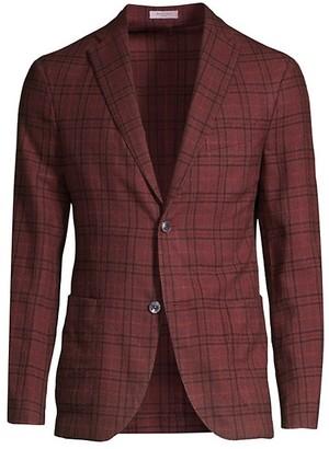 Boglioli Plaid Wool & Silk Blazer