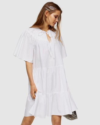 Topshop Poplin Smock Mini Dress