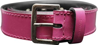 Christian Dior Pink Patent leather Belts