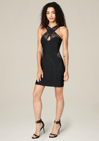 Bebe Shannel Lace Detail Dress