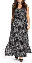 City Chic Rose Cage Maxi Dress