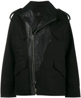 Haider Ackermann Military Jacket with Leather Accents