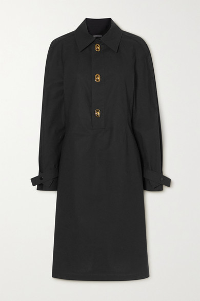 Bottega Veneta Coated-cotton Dress - Black